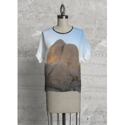 Modern Tee - The Rock in Blue/Green/White by VIDA Original Artist found on Bargain Bro Philippines from SHOPVIDA for $80.00