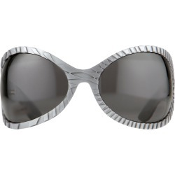 Jeremy Scott Wrap Sunglasses in Black and Silver found on MODAPINS from Linda Farrow for USD $314.68