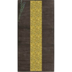 Table Runner - Thailand Textured in Brown/Yellow by Laura Shafer Original Artist