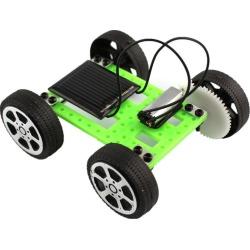 Costbuys  Good Quality 1 Set Mini Solar Powered Toy DIY Car Kit Kids Educational Gadget Hobby Funny Solar Energy - Green
