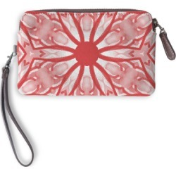 Leather Statement Clutch - Fiery Red #4 in Pink/Red/White by PRIDE Original Artist