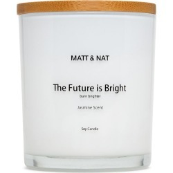 Matt & Nat The Future Is Bright Reg Round Candle Futurebam Candle, White found on Bargain Bro India from Matt & Nat for $30.00