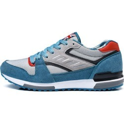 Costbuys  Breathable Running Shoes Men Autumn Winter Low Lace-Up Mesh Sneakers Light Cushioning Sport Outdoor Athletic - Sky blu