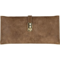 Samsung Galaxy On Nxt - Slim Vegan Leather Clutch Wallet with Strap Closure, Brown found on Bargain Bro India from cellularoutfitter.com dynamic for $13.99