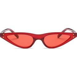 Costbuys  Small Water Frame Lady Sunglasses Men Women Oval Glasses Designer Fashion Male Female Shades - red red