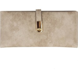 Samsung SPH-M320 - Slim Vegan Leather Clutch Wallet with Strap Closure, Taupe found on Bargain Bro India from cellularoutfitter.com dynamic for $13.99