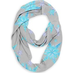 Infinity Eco Scarf - Aqua Blue Snowflakes Art by VIDA Original Artist found on Bargain Bro India from SHOPVIDA for $45.00