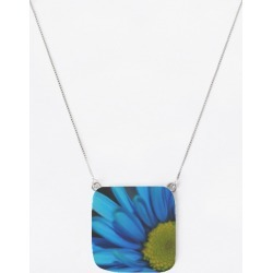 Oversized Square Pendant - Blue Daisy in Blue/Green/Yellow by VIDA Original Artist found on Bargain Bro India from SHOPVIDA for $70.00