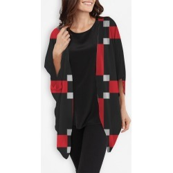 Cocoon Wrap - Red And Black Geometric by VIDA Original Artist found on Bargain Bro India from SHOPVIDA for $110.00