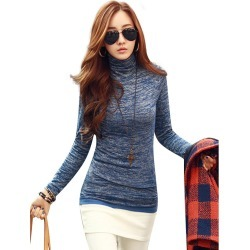 Costbuys Autumn Winter Women Sweaters Fashion High Neck Long Sleeve