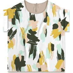 Modern Tee - Artistic Brushstrokes 01 in Brown/White/Yellow by Always Seek Original Artist found on Bargain Bro India from SHOPVIDA for $90.00