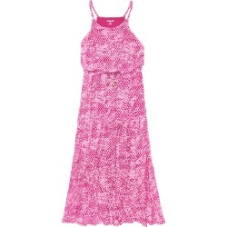 Geo Tiered Maxi Dress - S (7/8) Pink Peacock found on MODAPINS from basics by kidpik for USD $34.50