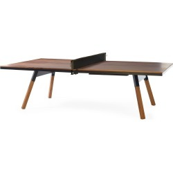 You And Me Ping Pong Table - Standard - Walnut / Black