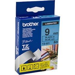 Brother TZe521 Labeling Tape Black On Blue Tape