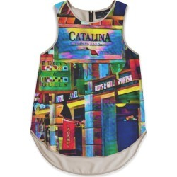 Sleeveless Top - Catalina Shops in Brown/Green/Purple by VIDA Original Artist found on Bargain Bro Philippines from SHOPVIDA for $90.00