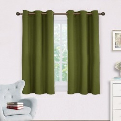 Costbuys  Curtains Panels for Bedroom - Window Treatment Thermal Insulated Solid Grommet Blackout Drapes for Living Room - olive found on Bargain Bro India from cost buys for $118.99