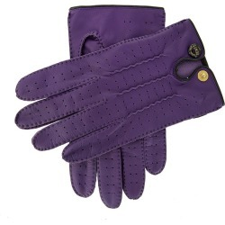 Dents Men's Handsewn Leather Driving Gloves In Amethyst Size L found on Bargain Bro UK from Dents