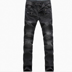 Costbuys  Men Jeans Fashion Denim Jeans Nostalgic High Quality Autumn Men's Pants Elastic Biker Jeans Male - Black / 33 found on Bargain Bro India from cost buys for $225.00