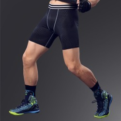 Costbuys  Man running shorts workout tights compression sport Leggings fitness gym shorts basketball - Gray / L