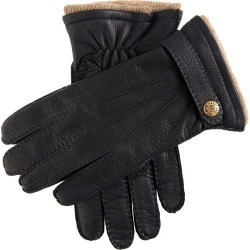 Dents Men's Handsewn Cashmere Lined Deerskin Leather Gloves With Cashmere Cuffs In Navy Size 8.5 found on Bargain Bro UK from Dents