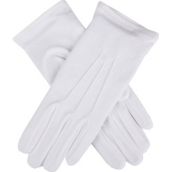 Dents Women's Cotton Gloves In White Size S