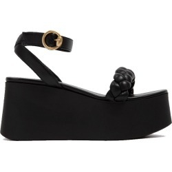 Gianvito Rossi Women's Braided Ankle Strap Flat-form Sandal in Black size 38.0I found on MODAPINS from kirna zabete for USD $795.00