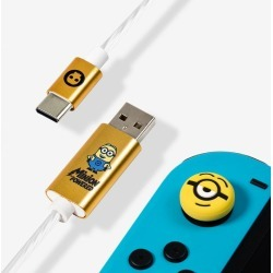 Official Minions LED USB C Cable & Thumb Grips (Nintendo Switch) found on Bargain Bro UK from yellow bulldog