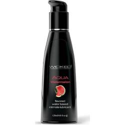 Wicked Aqua Watermelon - Watermelon Flavoured Water Based Lubricant - 120 ml (4 oz) Bottle