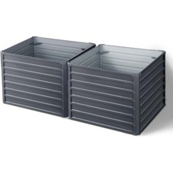 Greenfingers 2 Pcs 100X100X77Cm Galvanised Instant Planter found on Bargain Bro from Simply Wholesale for USD $123.38