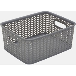 Herringbone Storage Bin - Grey | Storage