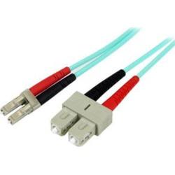 Startech 5M 10 Gb Aqua Fiber Patch Cable Lc Sc