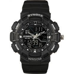 Costbuys  Watches Men's Quartz Digital LED Quartz Watches Military Silicone Waterproof Boy Digital LED Quartz Dual Display - A
