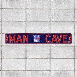 New York Rangers: Man Cave - Officially Licensed NHL Metal Street Sign by Fathead | 100% Steel