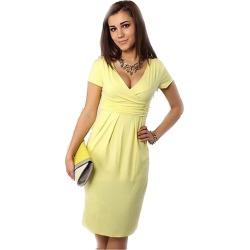 Costbuys Summer Dress Women Big Size Short Sleeve V neck Work Office Slim  Casual Bodycon Pencil 41318fa98c39