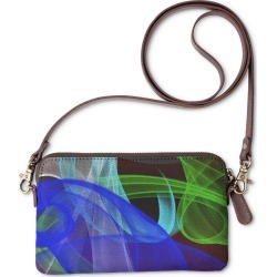 Statement Clutch - Whispered Colors #4 in Blue/Brown/Cyan by PRIDE Original Artist