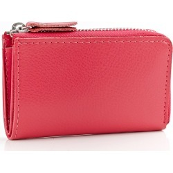 Costbuys  High Quality Genuine Leather Key Wallet  Car Key Holder Small Coin Purses Holders Zipper Housekeeper For Keys - roseo