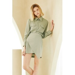 MILA WRAP EFFECT SHIRT AND SKIRT SET found on Bargain Bro India from jae. co., ltd for $74.90