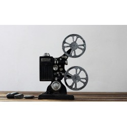 Costbuys  Creative Vintage Movie Projector Model Camera Photography Props Resin Craft Bar Coffee Net Bar Home Decoration Accesso