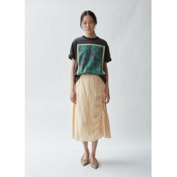 Acne Studios Iza Liquid Check Flared Skirt Orange / beige Size: FR 38 found on MODAPINS from la garconne for USD $500.00