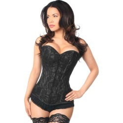 Lavish Black Lace Front Zipper Corset by Daisy Corsets found on Bargain Bro Philippines from Hustler Hollywood for $65.00