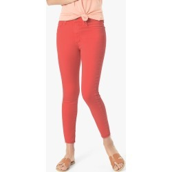 Joe's Jeans Women's The Icon Crop Skinny Jeans in Hibiscus/Red | Size 23 | Cotton/Spandex/Polyester