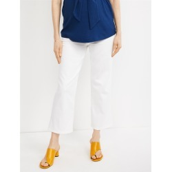 Luxe Essentials Side Panel McKenzie Tailored Straight Crop Maternity Jeans - 30 found on Bargain Bro India from motherhood for $29.99