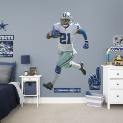 """Ezekiel Elliott for Dallas Cowboys - Officially Licensed NFL Removable Wall Decal Life-Size Athlete + 12 Decals (46""""W x 78""""H) by"""