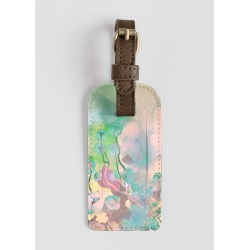 Leather Accent Tag - Pink Coral in Brown/Green/Purple by VIDA Original Artist found on Bargain Bro India from SHOPVIDA for $30.00