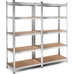 2X Warehouse Shelving Racking Storage Garage Steel Metal Shelves Rack