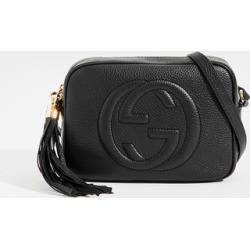 GUCCI Soho Small Leather Disco Bag in Black Leather