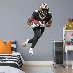 """Alvin Kamara for New Orleans Saints - Officially Licensed NFL Removable Wall Decal Life-Size Athlete + 2 Decals (43""""W x 74""""H) by"""