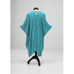 Sheer Wrap - Lost At Sea in Blue/Cyan by VIDA Original Artist found on Bargain Bro Philippines from SHOPVIDA for $135.00