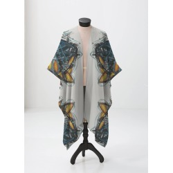 Sheer Wrap - Abstraction  Po216gr4454a in Brown/Yellow by VIDA Original Artist found on Bargain Bro Philippines from SHOPVIDA for $120.00