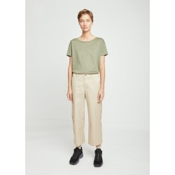 Acne Studios Relaxed Cotton Cropped Trousers Sand Beige Size: Fr 34 found on MODAPINS from la garconne for USD $320.00